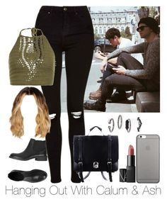 """""""»Hanging Out With Calum & Ash. »AliciaD."""" by imaginegirlsdsos ❤ liked on Polyvore featuring Topshop, New Look, ESPRIT and Native Union"""