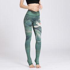 e35f76f218ada Women Yoga Pants Elastic Sport Leggings Printed Running Tights Sportswear Fitness  Gym Pants Workout Jogging Training Trousers
