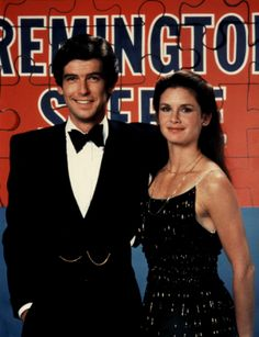"""Pierce Brosnan and Stephanie Zimbalist as: Remington Steele and Laura Holt.  Promo Pic form Season 2: """"Steele Away With Me"""""""