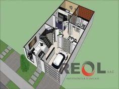 Como dise ar una casa de 7x15 mts de terreno youtube for Casa moderna minimalista interior 6m x 12 50 m