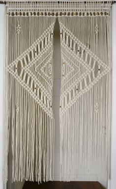 2.5 mm macrame door curtain with large diamond by SwimmingCool