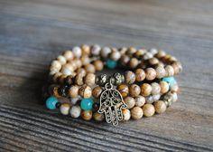 108 mala bracele wrist mala  beads picture by IskraCreations