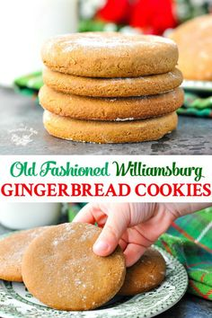 These simple and delicious Old-Fashioned Williamsburg Gingerbread Cookies are the perfect classic Christmas cookies! These simple and delicious Old-Fashioned Williamsburg Gingerbread Cookies are the perfect classic Christmas cookies! Holiday Cookies, Holiday Treats, Holiday Recipes, Christmas Cookies Simple, Healthy Christmas Treats, Best Christmas Recipes, Christmas Cooking, Christmas Desserts, Christmas Christmas