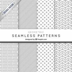 Geometric seamless patterns pack