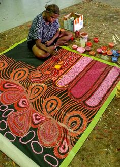 Mimi Art Gallery is a signatory member of the Indigenous Art Alliance who actively promote the ethical trade of Indigenous art. We at Mimi Art Gallery strive to serve the Aboriginal community fairly & with respect. Aboriginal Painting, Aboriginal Artists, Dot Painting, Encaustic Painting, Indigenous Australian Art, Indigenous Art, Australian Artists, Artist Art, Artist At Work