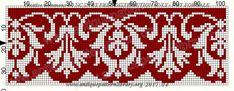 Gallery.ru / Фото #67 - Le Filet Ancien au Point de Reprise III - gabbach Crochet Diagram, Crochet Chart, Filet Crochet, Embroidery Patterns Free, Loom Patterns, Cross Stitch Embroidery, Cross Stitch Borders, Cross Stitch Designs, Cross Stitch Patterns