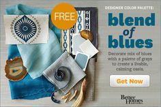 Designer Color Palette: Blend of Blues