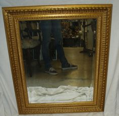 Large Gold Frame Mirror (throne room)