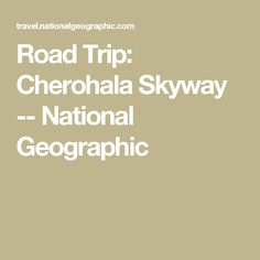 Road Trip: Cherohala Skyway -- National Geographic