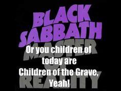 Black Sabbath Children of The Grave (lyrics on screen) - YouTube
