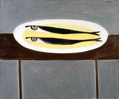 William Scott, Fish on a Plate, 1949 or Oil on canvas, × 61 cm / 20 × 24 in, Private collection Fish Sketch, Art Grants, Pen And Watercolor, Art File, Italian Artist, Fish Art, Oil On Canvas, Modern Art, Cool Art