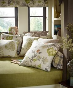 A lovely collection of hand drawn floral prints in muted colours for a fresh summery look all the year round. Drapery Fabric, Curtains, Peter Lee, Muted Colors, Cottage Homes, Comforters, Upholstery, How To Draw Hands, Floral Prints
