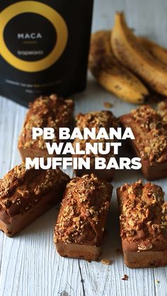 Discover recipes, home ideas, style inspiration and other ideas to try. Healthy Bars, Healthy Dessert Recipes, Gluten Free Desserts, Healthy Treats, Smoothie Recipes, Baking Recipes, Pancakes Protein, Protein Snacks, Protein Banana Bread