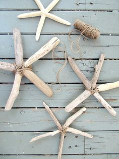 The Wicker House: Driftwood Starfish.