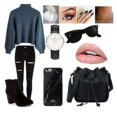 """Untitled #762"" by trinitys-trends ❤ liked on Polyvore featuring River Island, New Look, Daniel Wellington, Ray-Ban and Native Union"