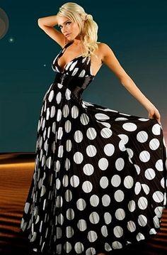 A polka dot maxi dress?  Get in my closet!