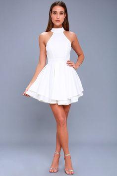 Dress Rehearsal White Skater Dress 1