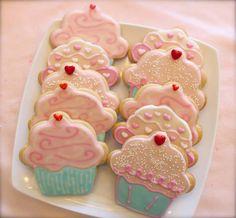 Cupcake Cookies (1 dozen) on Etsy, $42.00