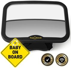 Onco Baby Car Mirror - Peace of Mind to Keep an Eye on Baby in a Rear Facing Child seat - Premium Black Frame Rear Facing Car Seat, Back Seat, Baby Car Mirror, Car Parts And Accessories, Kids Seating, Baby Safety, Rear View Mirror, Free Baby Stuff, Peace Of Mind
