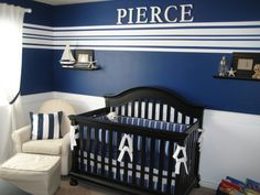 love everything about this room, the colors, the stripes and the furniture Baby Boys, Baby Boy Rooms, Baby Boy Nurseries, Boy Nursey, 2nd Baby, Lil Boy, Room Baby, Nursery Themes, Nursery Room