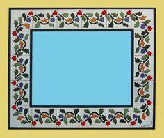 Espejos de cerámica pintados a mano MURALES DE CERÁMICA - TILES AND MURALS OF CERAMIC