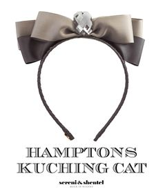 Headband by Sereni & Shentel 2012 Hamptons Collection - Kuching Cat. Made in Borneo.