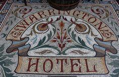 Mosaic Entrance: Warrington Hotel by curry15, via Flickr