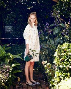 "Dreaming of Dior: ""Garden in My Heart"" Charlotte Nolting for Marie Claire…"