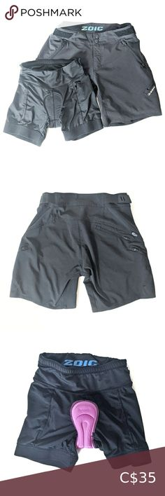 Zoic Woman's Bike Shorts with Removable Liner XS Zoic Woman's Bike Shorts with Removable Liner XS   18 cm inseam  GOOD CONDITION: Used, flawed, signs of wear, but still wearable Zoic Shorts Athletic Shorts
