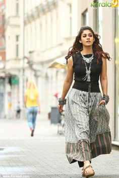 nayanthara latest stills 789 001 Indian Skirt, Indian Dresses, Indian Outfits, Stylish Dresses, Fashion Dresses, Modest Fashion, Trendy Outfits, Kurta Designs Women, Blouse Designs