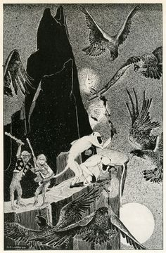 The Three Mulla-Mulgars  Illustrations by Dorothy P. Lathrop for Walter de la Mare's Three Mulla-Mulgars (1919)