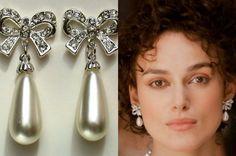 Bridal Bow Pearls Earrings Keira Knightley's by roomofyourown, $39.00