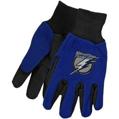 McArthur Tampa Bay Lightning Two-Tone Utility Gloves - Royal Blue-Black
