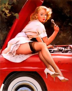 """""""Help Wanted,"""" by Gil Elvgren, 1960."""