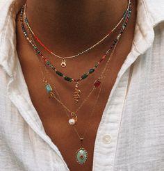 Nail Jewelry, Cute Jewelry, Gold Jewelry, Beaded Jewelry, Jewelry Accessories, Fashion Accessories, Fashion Jewelry, Beaded Necklace, Trendy Accessories