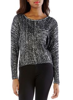 Sequin Open Stitch Sweater