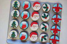 Menina Framboesa: Cupcakes de Natal | Christmas cupcakes