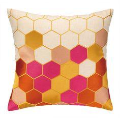 Trina Turk Carlsbad Embroidered Linen Throw Pillow | AllModern