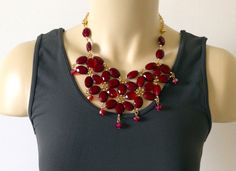 Blooming Red Necklace. $19.00 Shipped.