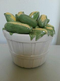 Basket of Corn Cookie Jar by Fitz & Floyd