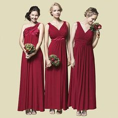 Twist Wrap Dress: Long- Dessy Group- $180- Claret - Bridesmaid ...