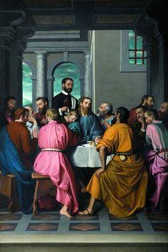 Giovan Battista Moroni, Ultima Cena, Romano di Lombardia, Chiesa di Santa Maria Assunta e San Giacomo Maggiore apostolo, 1565-1571