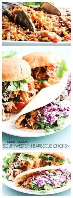Slow Cooker Southwestern Barbecue Chicken - A Dash of Sanity