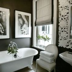 Black bathroom with white accents (b photography)
