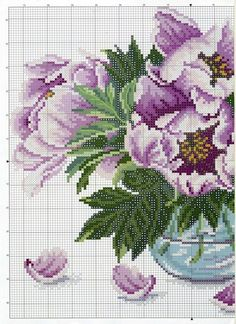This Pin was discovered by анн Cross Stitch Rose, Cross Stitch Flowers, Cross Stitch Charts, Cross Stitch Designs, Cross Stitch Patterns, Ribbon Embroidery, Cross Stitch Embroidery, Lace Knitting Stitches, Christmas Embroidery Patterns