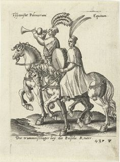 Poolse muzikanten te paard, possibly Abraham de Bruyn, 1577