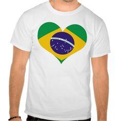 I love Brazil flag t-shirt