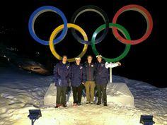 2014 USA Olympic Ski Slopestyle Team: Bobby Brown, Gus Kenworthy, Joss Christensen, Nick Goepper