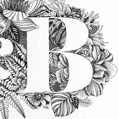 Detail view of B - one of my favorite capital letters!