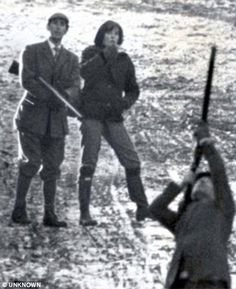 Diana's first encounter with Prince Charles. He was dating her older sister Lady Sarah and was a guest for a shoot at Althorp, the Spencer family home, in the winter of 1977